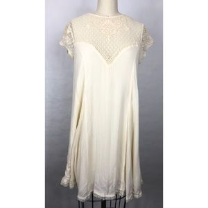 Anthropologie Lucy Fried Ivory Lace Dress Sz S